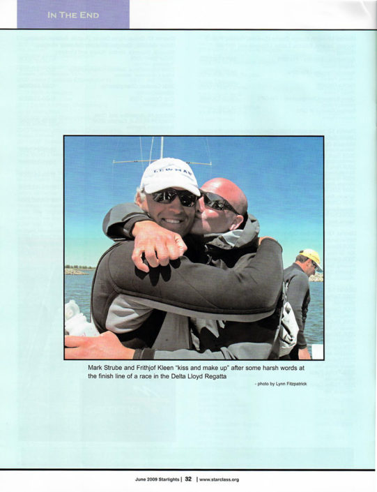 June 2009 starlights article image of two men hugging and celebrating