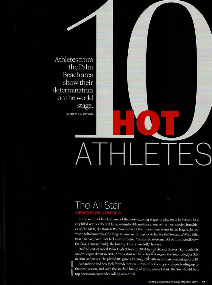 palm beach illustrated 10 hot athletes magazine article