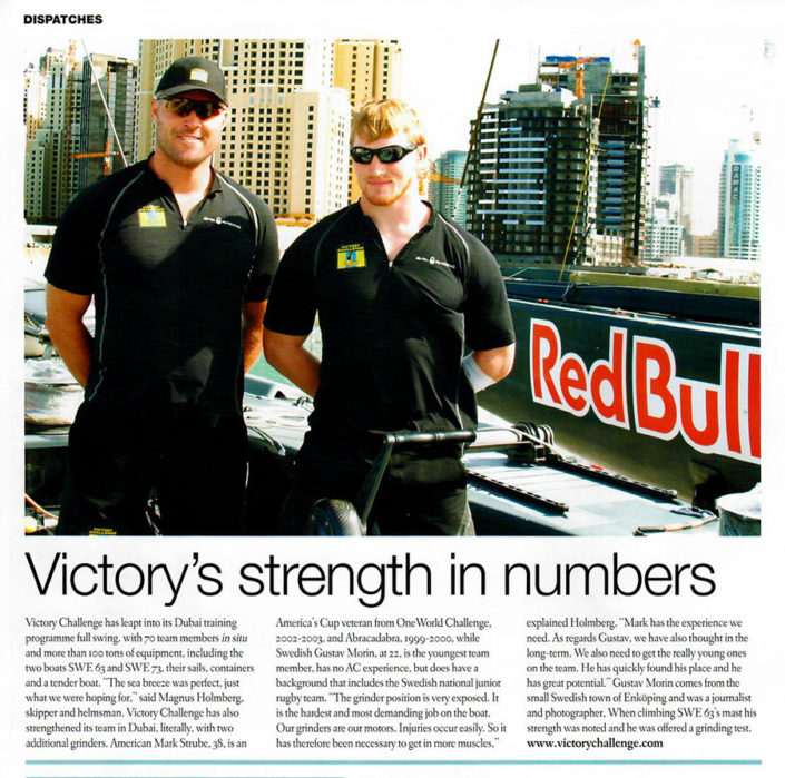 victory's strength in numbers article about mark strube